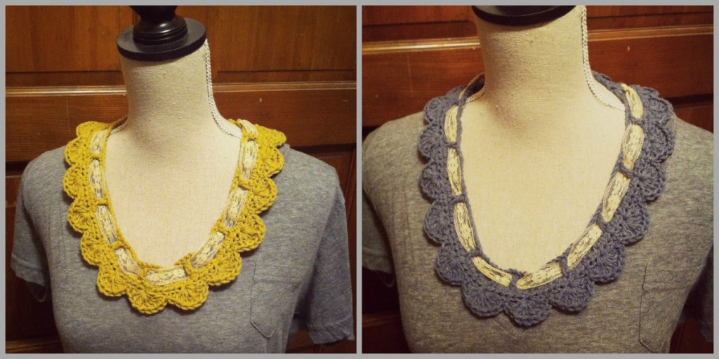 Scallop and Vintage Lace Necklace