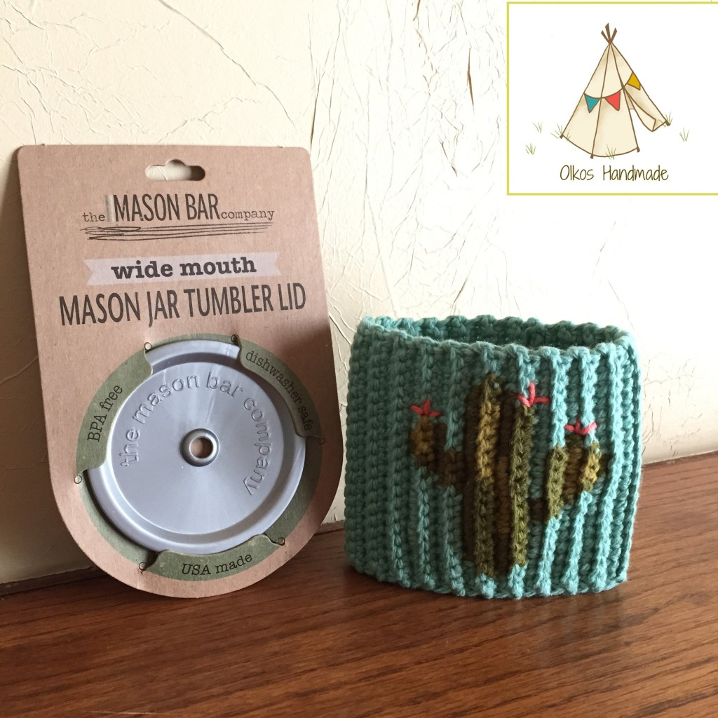 Cactus Cozy and Mason Bar lid