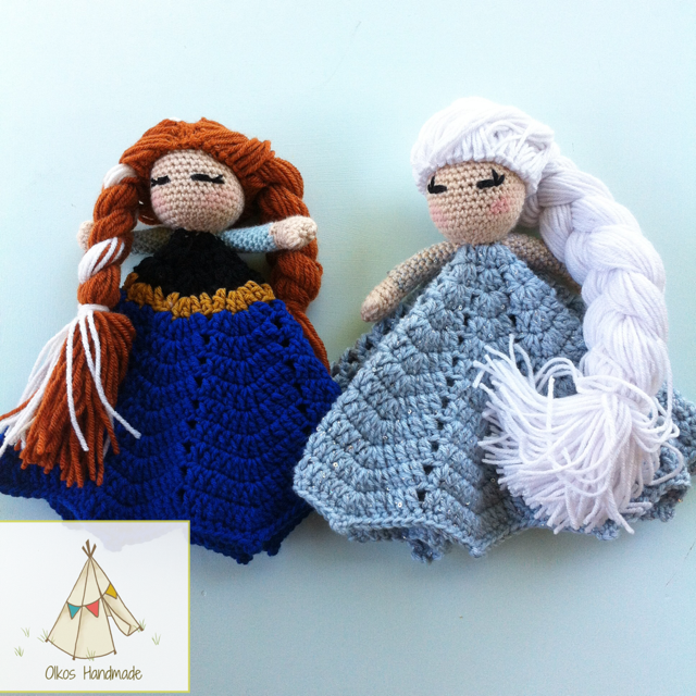 Anna and Elsa Lovey by Oikos Handmade