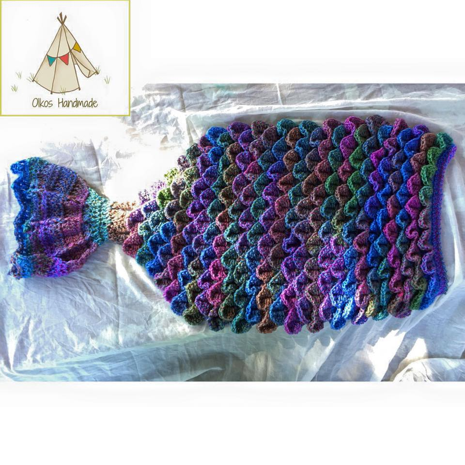Mermaid Tail Blanket by Oikos Handmade