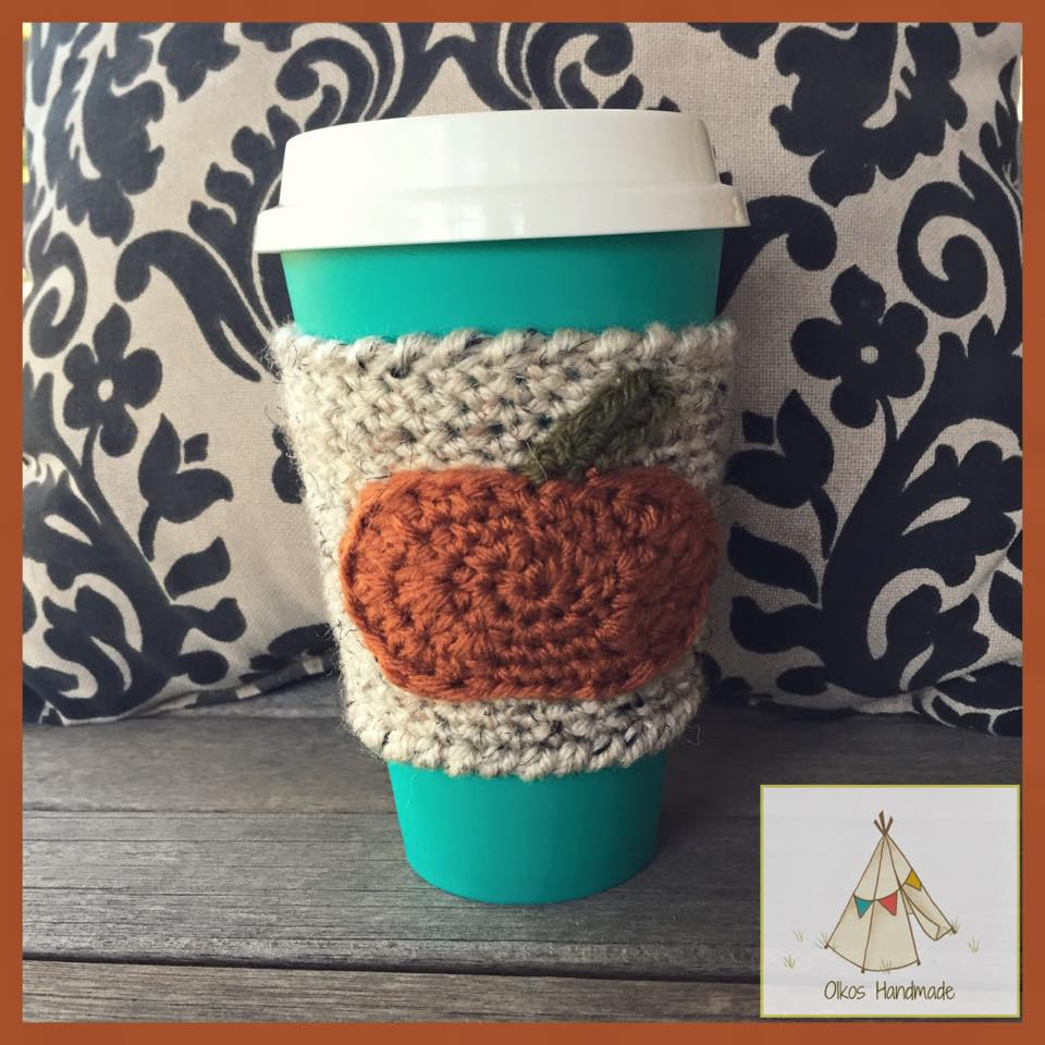 Pumpkin Spice Coffee Sleeve by Oikos Handmade