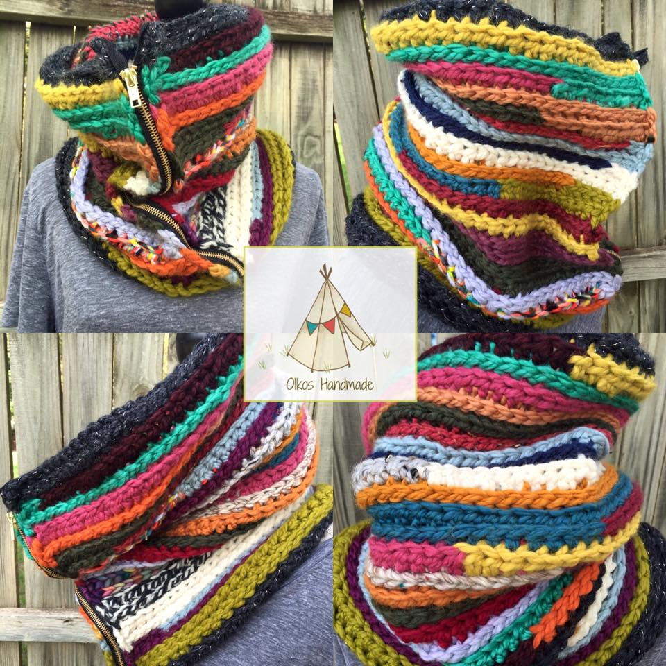 Scrappy Zip-It Cowl