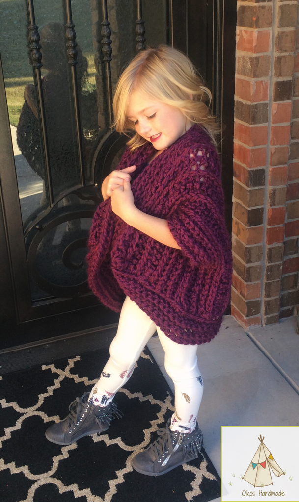 Child's Cozy Cardigan by Oikos Handmade