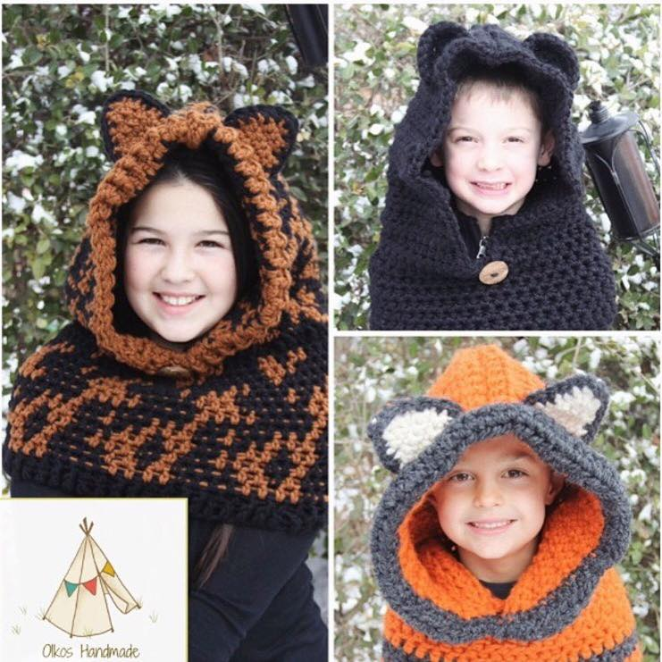 Crochet Animal Hoods
